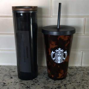 New Starbucks tortoise 2019 water bottle & tumbler